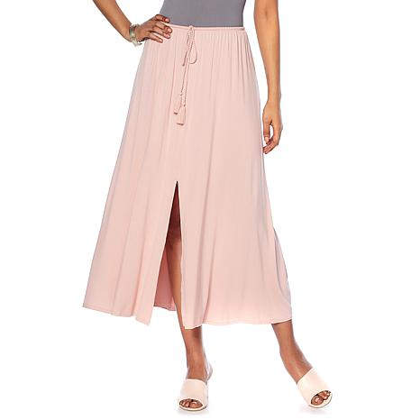 Daisy Fuentes Center Slit Maxi Skirt