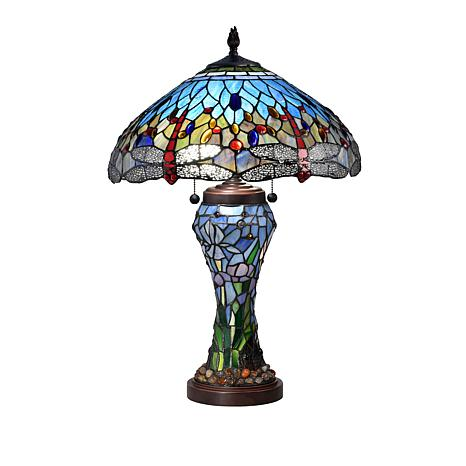 Dale Tiffany Cody Dragonfly Tiffany Style Table Lamp 8637440 Hsn