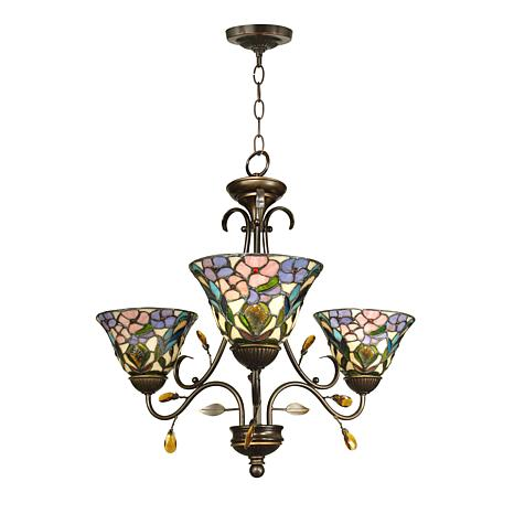 Dale Tiffany Crystal Peony 3-Light Fixture