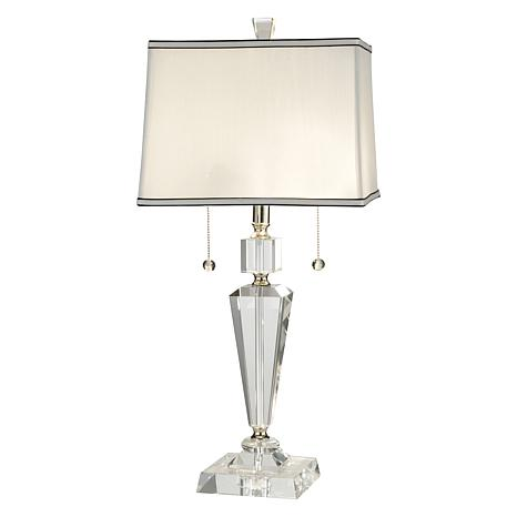 dale crystal table lamp stacked ball base lamps costco for living room