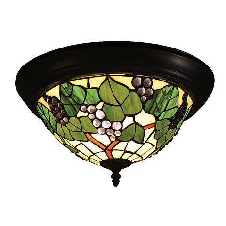 Dale Tiffany Grape Cluster Flush Mount Light Fixture
