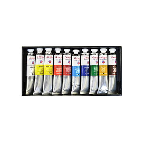 Daler-Rowney Georgian Water Mixable Oil Set of 10 Introduction