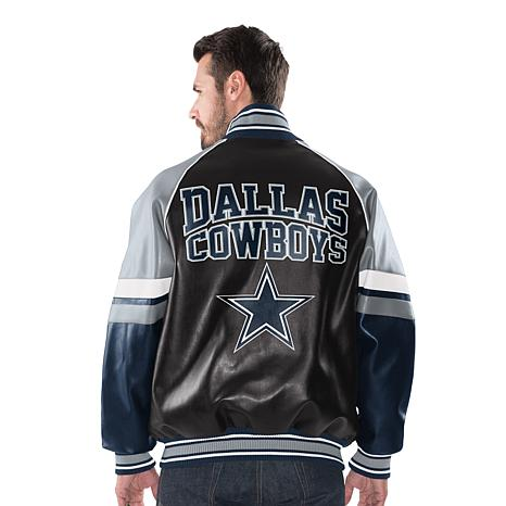 97534084b Dallas Cowboys Men s Faux Leather Varsity Jacket - 8710293