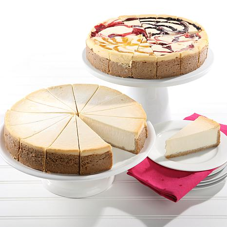 """David's Cookies (2) 10"""" 4.25 lb. NY & Fruit Flavored Cheesecakes AS"""