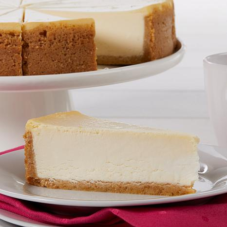 """David's Cookies Set of 2 10"""" New York Style Cheesecakes"""