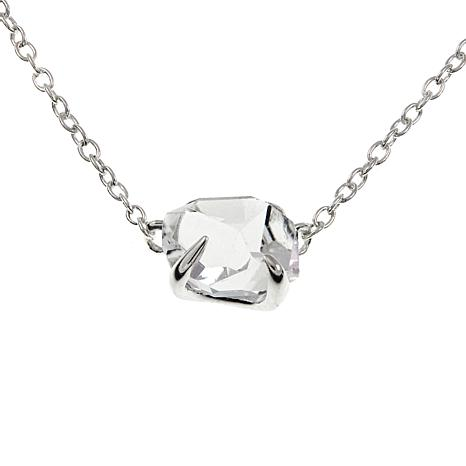 "Deb Guyot .23ct Herkimer ""Diamond"" Quartz 17"" Sterling Silver Necklace"