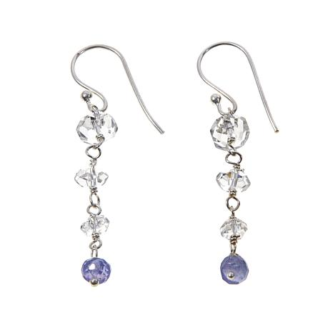 Deb Guyot Herkimer Quartz & Tanzanite Drop Earrings