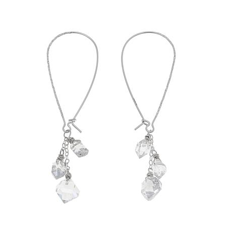 Deb Guyot Herkimer Quartz Cluster Drop Earrings