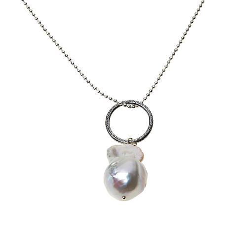 Deb Guyot Studio Cultured Freshwater Pearl Bead-Link Drop Necklace