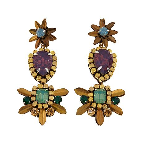 "deepa by Deepa Gurnani®  ""Bobbi"" Triple Drop Earrings"