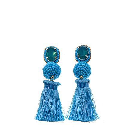 """deepa by Deepa Gurnani® """"Luisa"""" Thread Tassel Earrings"""