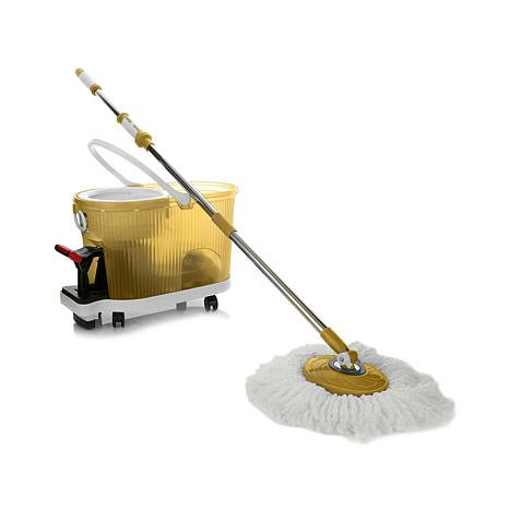 Deluxe Hurricane Spin Mop with Dolly and Soft Handle
