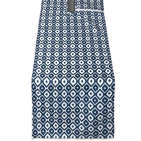 """Design Imports 14"""" x 108"""" IKAT Outdoor Table Runner with Zipper"""