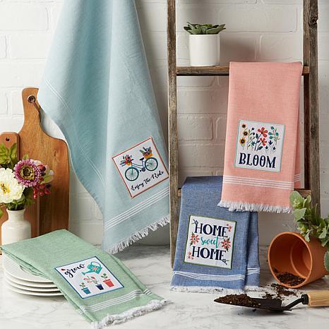 Bloom Garden Embellished Kitchen Towel