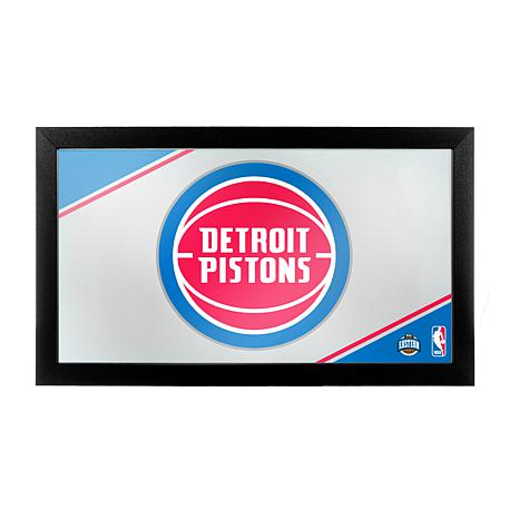 Detroit Pistons NBA Framed Logo Mirror