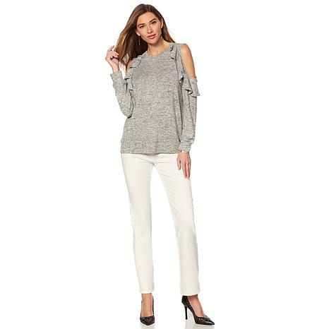 018a7a14f3fea DG2 by Diane Gilman Cold-Shoulder Ruffle Top - 8577680