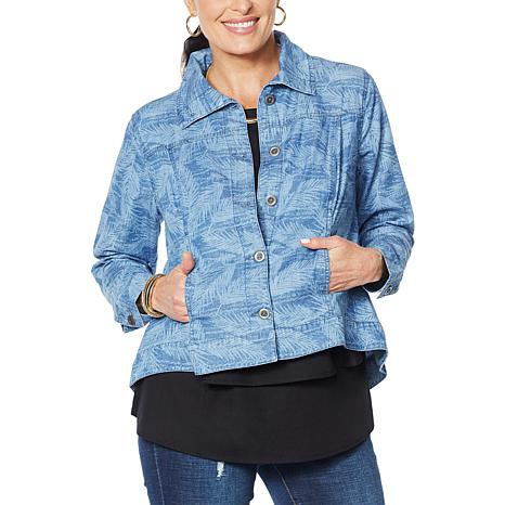 Dg2 By Diane Gilman Softcell Denim Jacket Fashion 9357650 Hsn