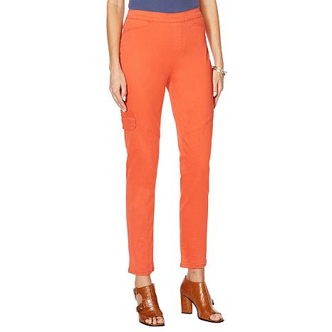 Dg2 By Diane Gilman Stretch Twill Cargo Jegging Fashion 9074926 Hsn