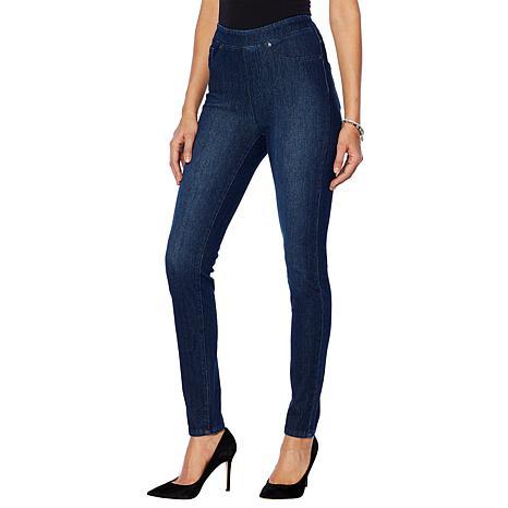 32f71b46298f0 DG2 by Diane Gilman Stretch Twill Knit Pull-On Skinny Jegging - 10078951 |  HSN