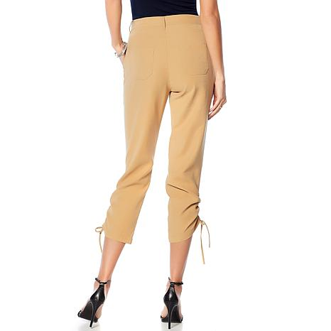 16f81e58751 DG2 by Diane Gilman Twill Utility Ankle Pant with Ruching - 8692701 ...