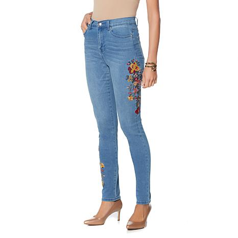 DG2 by Diane Gilman Virtual Stretch Embroidered Skinny