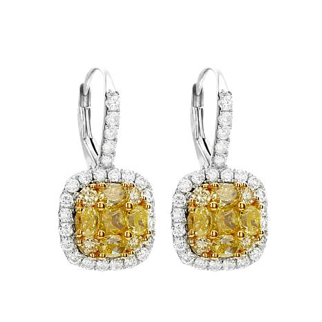 Diamond Couture 14K 2.5ctww Diamond Frame Earrings