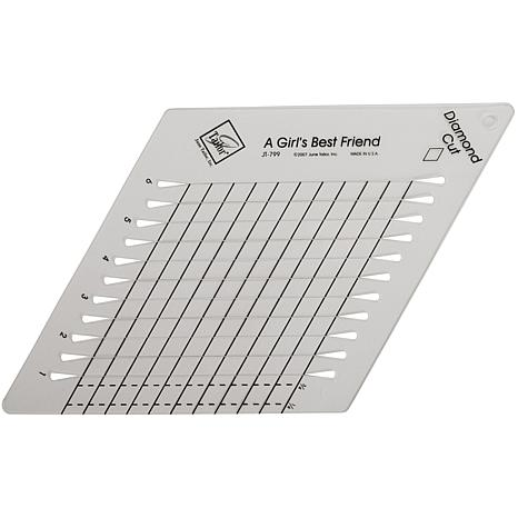 "Diamond Cut Slotted Ruler - 9"" x 9"""
