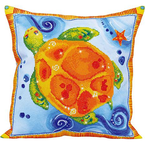 Diamond Dotz Diamond Embroidery Pillow Facet Art Kit - Turtle Journey