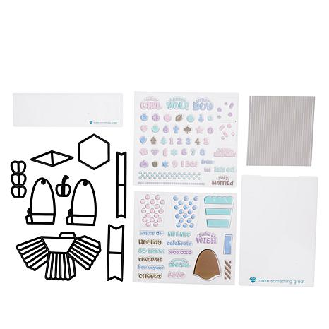 Diamond Press 3D Cupcake Stamp and Die Kit