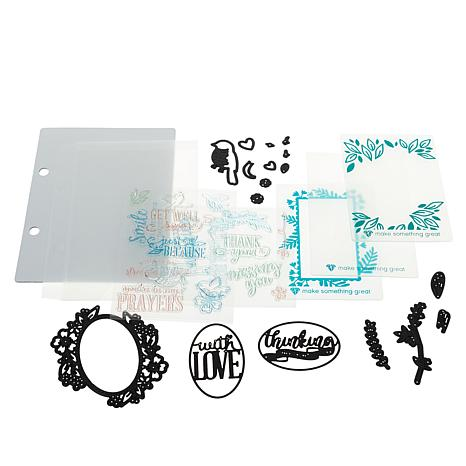 Diamond Press Fun and Easy Sentiments Stamp and Die Kit