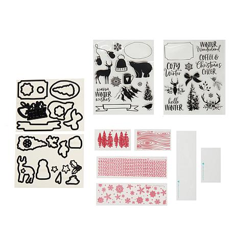 diamond press white christmas stamp and die set - Christmas Stamp