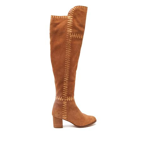 Diego di Lucca Moony Suede Over-the-Knee Boot