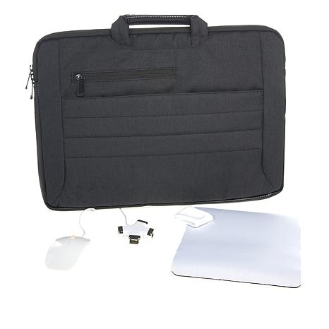 Digital Basics 2 In 1 Laptop Sleeve For 17 With Accessories