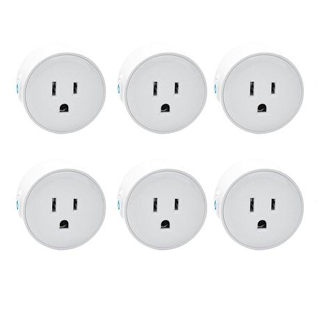 Digital Gadgets 6-pack Mini Wifi Smart PlugsAlexa Enabled