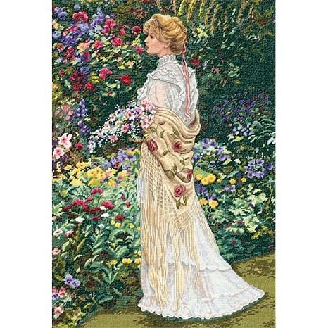 Dimensions/Gold Collection Counted Cross Stitch Kit 11X16 - In Her Garden  (18 Count)