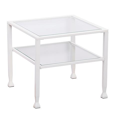 Dina Metal/Glass Cocktail Table - White