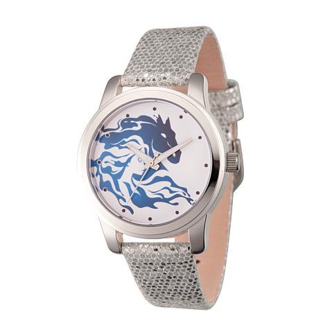Disney Frozen 2 Elsa Women's Silver Alloy Watch w/ Silver Sequin Strap
