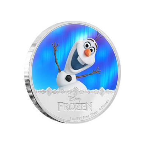 "Disney Frozen ""Olaf"" Proof LE Colorized Silver $2 Coin"