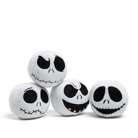 Disney Jack Skellington Built-in-Squeak Pet Toy 4-pack