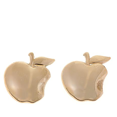 Disney Kids 14K Yellow Gold Apple Stud Earrings