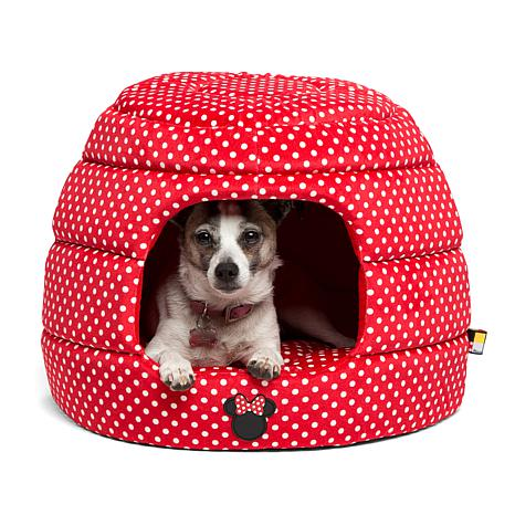 Disney Minnie Mouse Dot Pet Bed with Squeak Toy