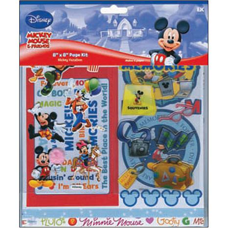 Disney Page Kit 8X8 - Mickey Vacation