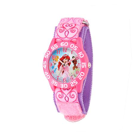 Disney Princess Kid's Purple and Pink Strap Time-Teacher Watch