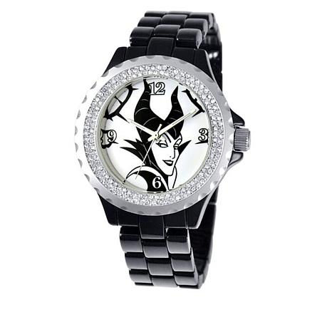 Disney Women's Maleficent Crystal-Accented Watch