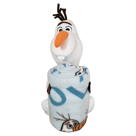 Disney's Frozen 2 - Olaf Knows Pillow and Fleece Throw Blanket Set