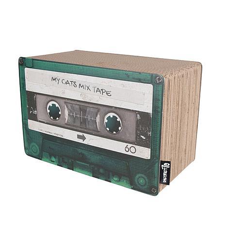 District 70 Mix Tape Small Cardboard Cat Scratcher - Emerald
