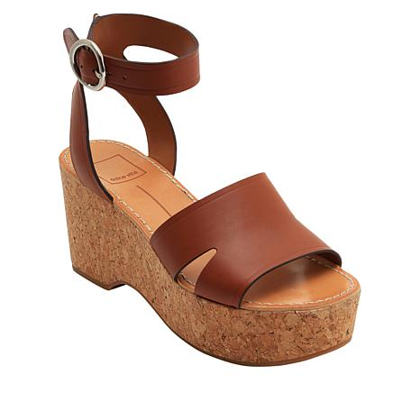 4e3a30a07 Dolce Vita Linda Leather Cork Wedge Platform Sandal - 8993685 | HSN