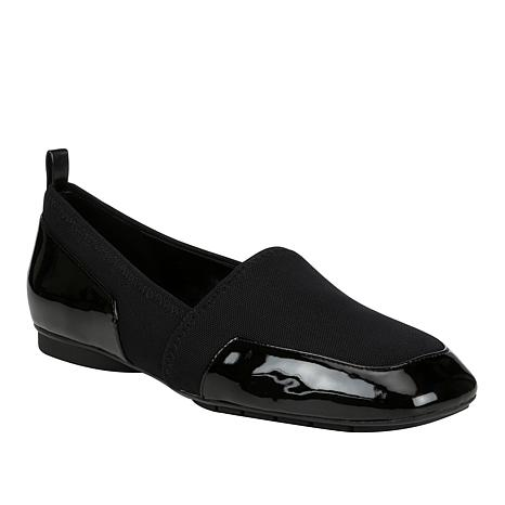 Donald J. Pliner Deela Stretch Loafer with Patent Leather Trim