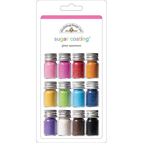 Doodlebug Sugar Coating 12-pack Glitter Assortment