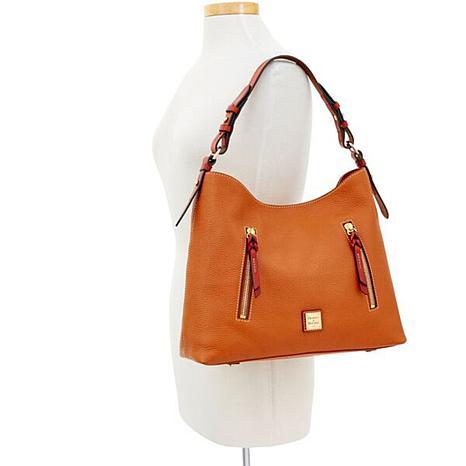 4fde87b1226186 Dooney & Bourke Cooper Pebble Leather Hobo - 8796816 | HSN